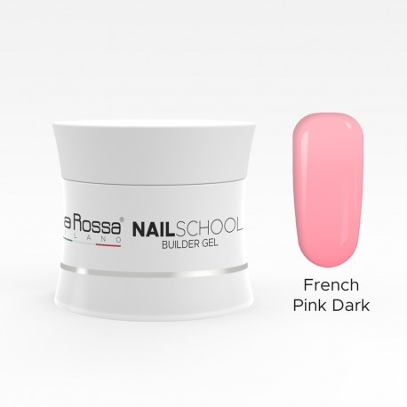 Gel de constructie Lila Rossa NailSchool 15 g Dark French Pink