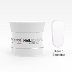 Gel de constructie Lila Rossa NailSchool 15 g Bianco Estremo