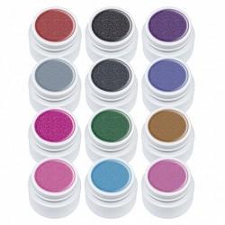 Set gel color Lila Rossa, Glitter Series, 12 geluri