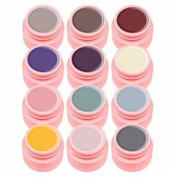 Set gel color Canni, Natural Series, 12 geluri