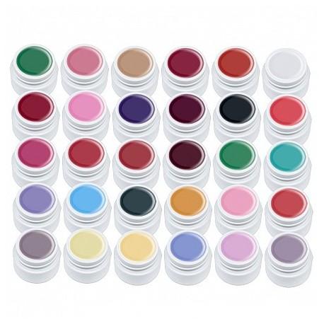 Set gel color Gdcoco, Pure Series, set 36 geluri, ambalaj transparent