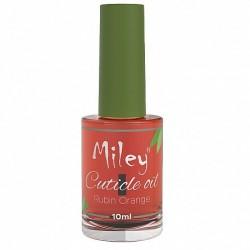Ulei cuticule cu pensula, Miley, aroma Rubin Orange, 10 ml