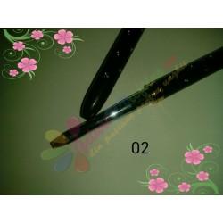 Pensula Gel Neagra Strasuri Nr 2