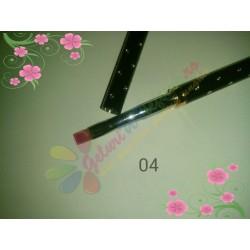 Pensula Gel Neagra Strasuri Nr 4