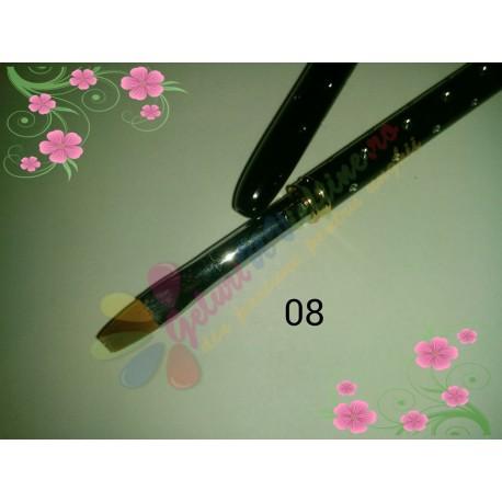 Pensula Gel Neagra Strasuri Nr 8