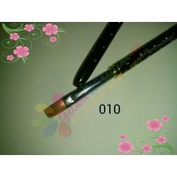 Pensula Gel Neagra Strasuri Nr 10