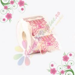 Sabloane Fluture Roz 100 Buc