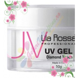 Gel Lila Rossa Diamond Touch Clear cu sclipici fin - 50g
