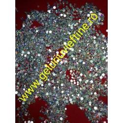 Cristale Swarovski Argintii Reflexii  mici-mari 50 buc