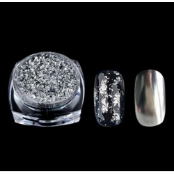 Pudra cu efect de oglinda platinum ARGINTIU G518-SV