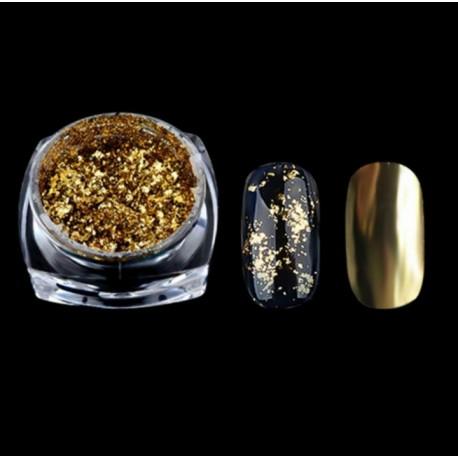 Pudra cu efect de oglinda platinum AURIU G518-SV