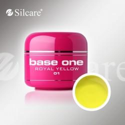 Base One UV Gel Colorat Glass Royal Yellow 01 -5 g