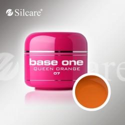 Base One UV Gel Colorat Glass Queen Orange 07 -5 g