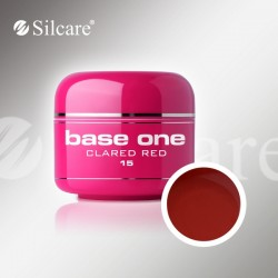 Base One UV Gel Colorat Glass Clared Red 15  -5 g