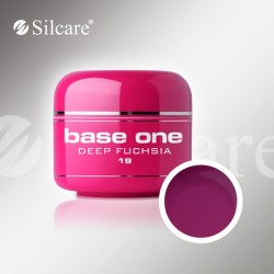 Base One UV Gel Colorat Glass Deep Fuchsia 19  -5 g