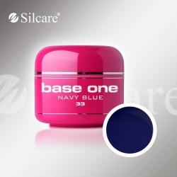 Base One UV Gel Colorat Glass Navy Blue 33  -5 g