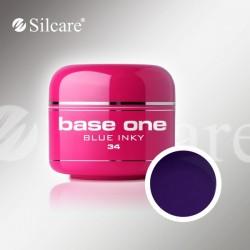 Base One UV Gel Colorat Glass Blue Inky 34  -5 g