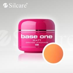 Base One UV Gel Colorat Matt Orange Lemonade 02  -5 g