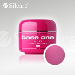Base One UV Gel Colorat Matt Pinky Promise 06  -5 g