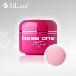 Base One UV Gel Colorat Matt Cream Pink 08 -5 g