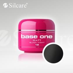 Base One UV Gel Colorat Matt Black Night 12 -5 g