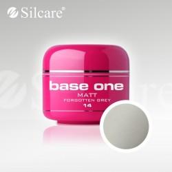 Base One UV Gel Colorat Matt Forgotten Grey 14 -5 g