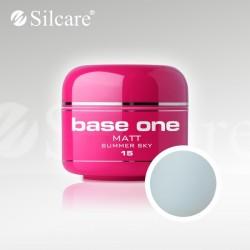 Base One UV Gel Colorat Matt Summer Sky 15-5 g