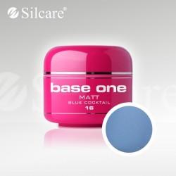 Base One UV Gel Colorat Matt Blue Cocktail 16  -5 g