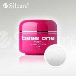 Base One UV Gel Colorat Pixel White Power 01  -5 g