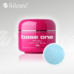 Base One UV Gel Colorat Pixel Pop Art Blue 04 -5 g