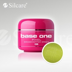 Base One UV Gel Colorat Pixel Grasshopper Green 06   -5 g