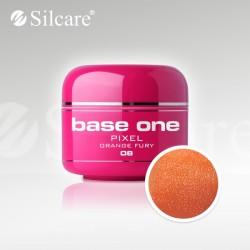 Base One UV Gel Colorat Pixel Orange Fury 08  -5 g