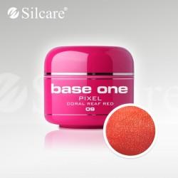 Base One UV Gel Colorat Pixel Coral Reaf Red 09  -5 g