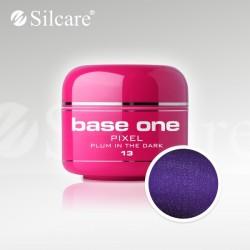 Base One UV Gel Colorat Pixel Plum In The Dark 13  -5 g