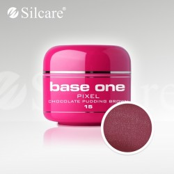 Base One UV Gel Colorat Pixel Chocolate Pudding Brown 15  -5 g