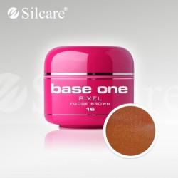 Base One UV Gel Colorat Pixel Fudge Brown 16  -5 g