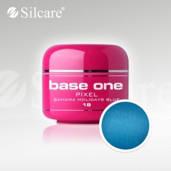 Base One UV Gel Colorat Pixel Bahama Holidays Blue 18  -5 g