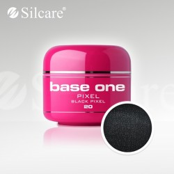 Base One UV Gel Colorat Pixel Black Pixel 20  -5 g