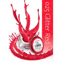 Gel Color Semilac - 025 Glitter Red