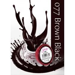 Gel Color Semilac - 077 Brown Black