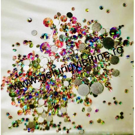 Cristale Mixuri Argintii Reflexii 1440 buc