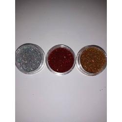 Set sclipici -argintiu ,rosu,auriu